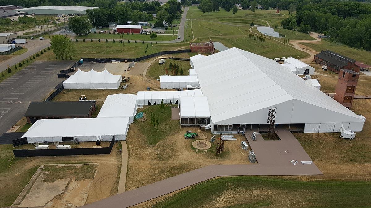 Ariel tent & Ariel Corporation 50th Anniversary